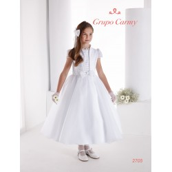 Carmy Handmade First Holy Communion Dress in White Style 2705