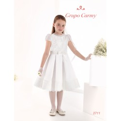 Spanish Handmade Ivory Ballerina Length First Holy Communion Dress Style 2711