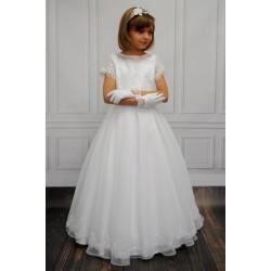 HANDMADE COMMUNION DRESS STYLE BERTHA