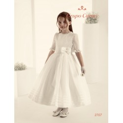 SPANISH HANDMADE IVORY FIRST HOLY COMMUNION DRESS STYLE 2707