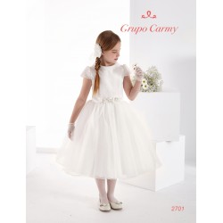 HANDMADE SPANISH UNUSUAL IVORY FIRST HOLY COMMUNION DRESS STYLE 2701
