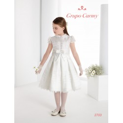 SPANISH IVORY HANDMADE BALLERINA LENGTH FIRST HOLY COMMUNION DRESS STYLE 2703