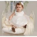 SEVVA BEAUTIFUL WHITE CHRISTENING DRESS & HEADBAND STYLE ROSE