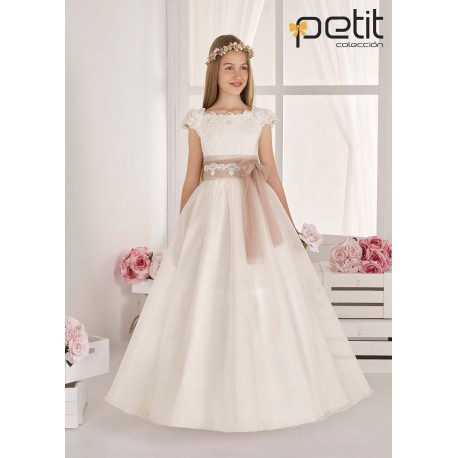 CARMY HANDMADE IVORY UNIQUE FIRST HOLY COMMUNION DRESS STYLE 814