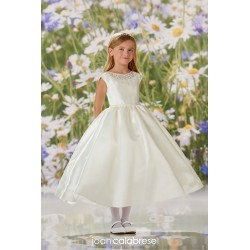 JOAN CALABRESE IVORY TEA-LENGTH FIRST HOLY COMMUNION DRESS STYLE 120334