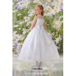 JOAN CALABRESE WHITE TEA-LENGTH FIRST HOLY COMMUNION DRESS STYLE 120350