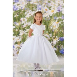JOAN CALABRESE WHITE TEA-LENGTH FIRST HOLY COMMUNION DRESS STYLE 120342