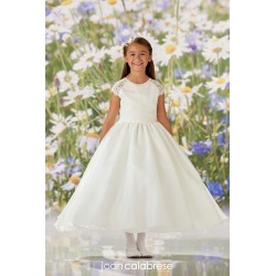 JOAN CALABRESE IVORY TEA-LENGTH FIRST HOLY COMMUNION DRESS STYLE 120344