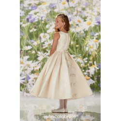 JOAN CALABRESE IVORY TEA-LENGTH FIRST HOLY COMMUNION DRESS STYLE 120352