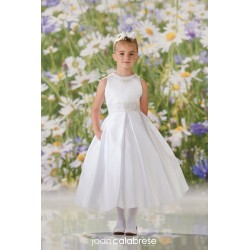 JOAN CALABRESE WHITE TEA-LENGTH FIRST HOLY COMMUNION DRESS STYLE 120348