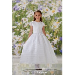 JOAN CALABRESE WHITE TEA-LENGTH FIRST HOLY COMMUNION DRESS STYLE 120346