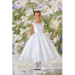 JOAN CALABRESE WHITE TEA-LENGTH FIRST HOLY COMMUNION DRESS STYLE 120334