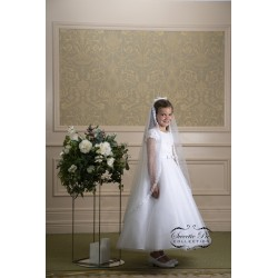 Sweetie Pie First Holy Communion White Dress & Veil Style 4038