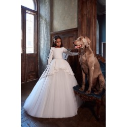 Unusual Ivory First Holy Communion Dress Style 3144