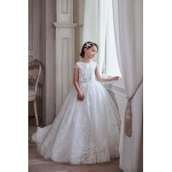 Unusual Ivory First Holy Communion Dress Style 3131