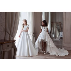 Unusual White First Holy Communion Dress Style 3107
