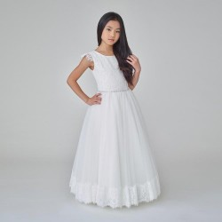 Handmade Ivory First Holy Communion Dress by Teter Warm Style 907B