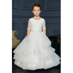 Handmade Ivory First Holy Communion Dress by Teter Warm Style FR06