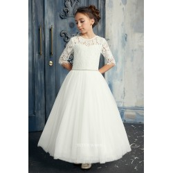Handmade Ivory First Holy Communion Dress by Teter Warm Style FR02