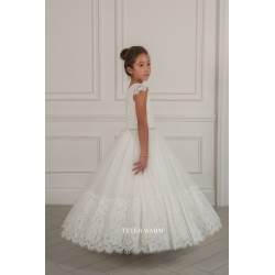 Handmade Ivory First Holy Communion Dress by Teter Warm Style 282