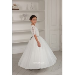 Handmade Ivory First Holy Communion Dress by Teter Warm Style 906