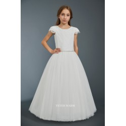 Handmade Ivory First Holy Communion Dress by Teter Warm Style 706