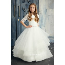Handmade Ivory First Holy Communion Dress by Teter Warm Style 284
