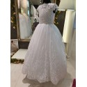 White Handmade First Holy Communion Dress Style CELIA BIS