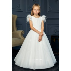 Handmade Ivory First Holy Communion Dress by Teter Warm Style 217