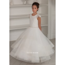 Handmade Ivory First Holy Communion Dress by Teter Warm Style 212