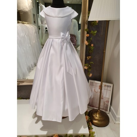 White Handmade First Holy Communion Dress Style MAGNOLIA