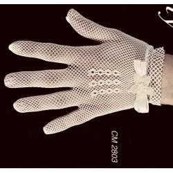 IVORY HANDMADE SPANISH GLOVES STYLE CM2803