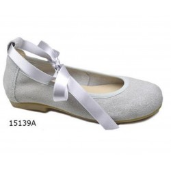 Spanish Grey Confirmation/Special Occasion Shoes by Tinny Shoes Style 15139