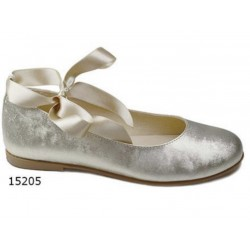 Spanish Gold Confirmation/Special Occasion Shoes by Tinny Shoes Style 15205