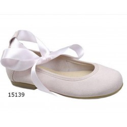 SPANISH PINK CONFIRMATION/SPECIAL OCCASION SHOES BY TINNY SHOES STYLE 15139