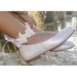 SPANISH PINK CONFIRMATION/SPECIAL OCCASION SHOES BY TINNY SHOES STYLE 15209
