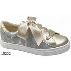 SPANISH GOLD/METAL CONFIRMATION/SPECIAL OCCASION SHOES BY TINNY SHOES STYLE 15232