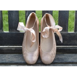 SPANISH SALMON PINK CONFIRMATION/SPECIAL OCCASION SHOES BY TINNY SHOES STYLE 15205