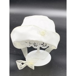 Lovely Ivory Bonnet for Baby Girl style Bonnet01