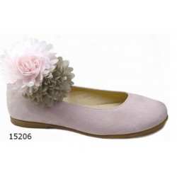 SPANISH PINK CONFIRMATION/SPECIAL OCCASION SHOES BY TINNY SHOES STYLE 15206