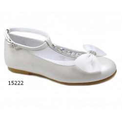 SPANISH IVORY FIRST HOLY COMMUNION SHOES BY TINNY SHOES STYLE 15222