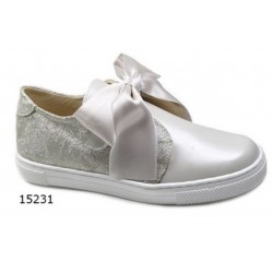 SPANISH IVORY/GOLD/DUSTY PINK CONFIRMATION/SPECIAL OCCASION SHOES BY TINNY SHOES STYLE 15231 STYLE