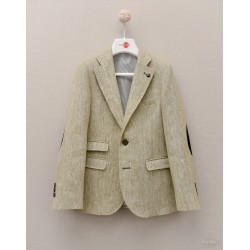 Boys' Spanish First Holy Communion Jacket Green and White Style 10-04054