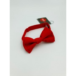Spanish Red With Navy Stitching Detail First Holy Communion Bow Tie 10-08018B