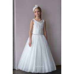 HANDMADE IVORY FIRST HOLY COMMUNION DRESS BY TETER WARM STYLE D81