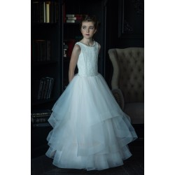 HANDMADE IVORY FIRST HOLY COMMUNION DRESS BY TETER WARM STYLE E160