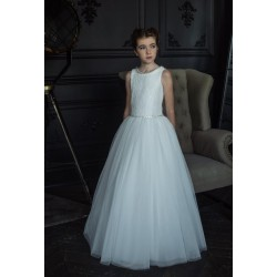 HANDMADE IVORY FIRST HOLY COMMUNION DRESS BY TETER WARM STYLE D82