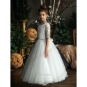 HANDMADE IVORY FIRST HOLY COMMUNION DRESS BY TETER WARM STYLE G05
