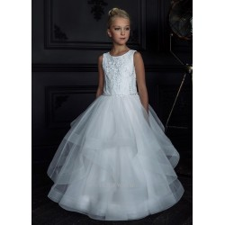 HANDMADE IVORY FIRST HOLY COMMUNION DRESS BY TETER WARM STYLE G122