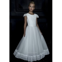 HANDMADE IVORY FIRST HOLY COMMUNION DRESS BY TETER WARM STYLE G19